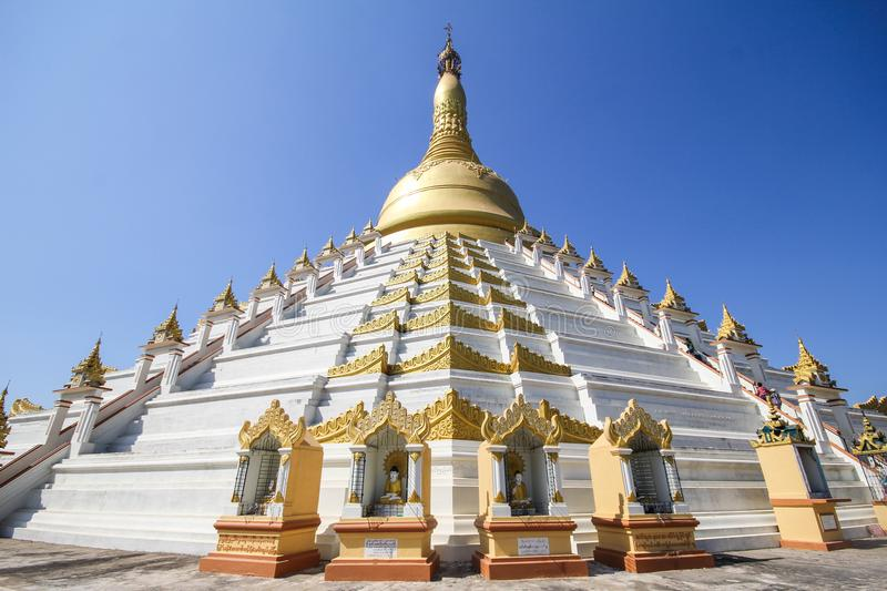 Temple and Pagoda in Bago, Myanmar. Beautiful and famous stock photography