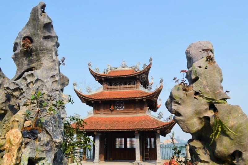 Temple Pagoda in Hanoi, Vietnam. Chua Tao Sach temple pagoda at Ho Tay west lake in Hanoi, Vietnam stock photo