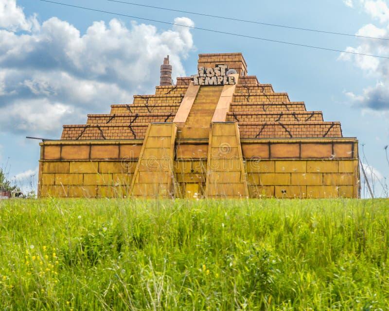 Temple perdu - vallons du Wisconsin photographie stock