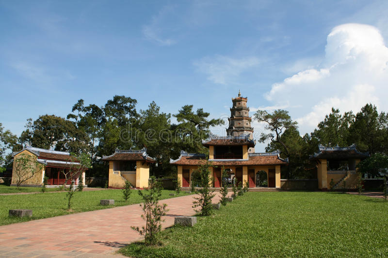 Download Temple At Perfume River In Hue, Vietnam Stock Image - Image of pagoda, buddhist: 25329787