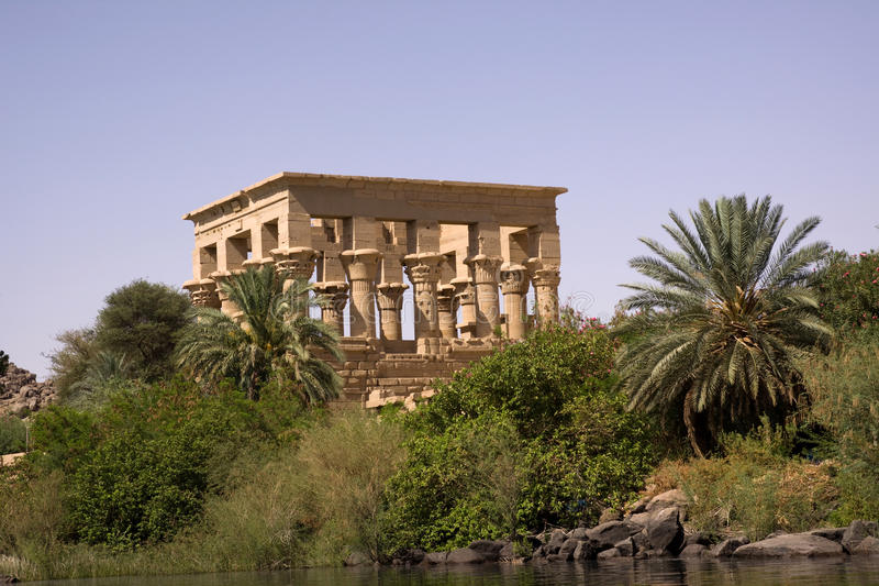 Temple of philae. The temple of philae in aswan in the south of egypt stock image