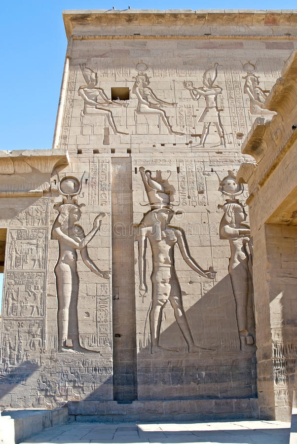 Temple of Philae in Egypt. Exterior of Temple of Philae near Aswan, Egypt royalty free stock photo