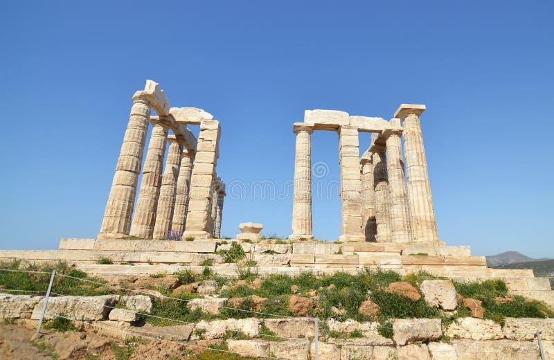 Temple of Poseidon Cape Sounion Greece stock images
