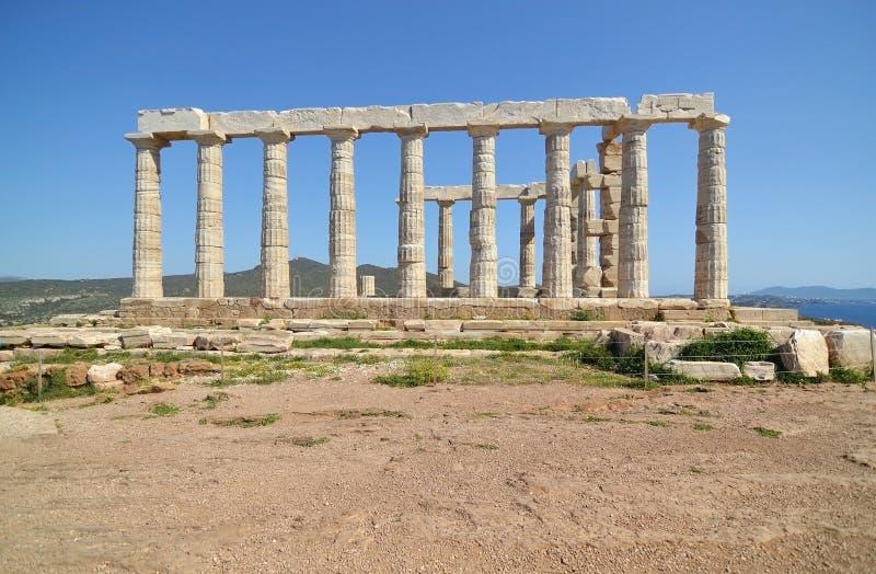 Temple of Poseidon at Cape Sounion Greece royalty free stock photos