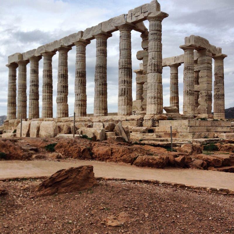 Temple of Poseidon. So close to the demigods stock photography