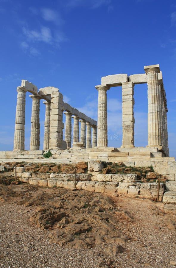 Temple Of Poseidon, Greece Stock Photos