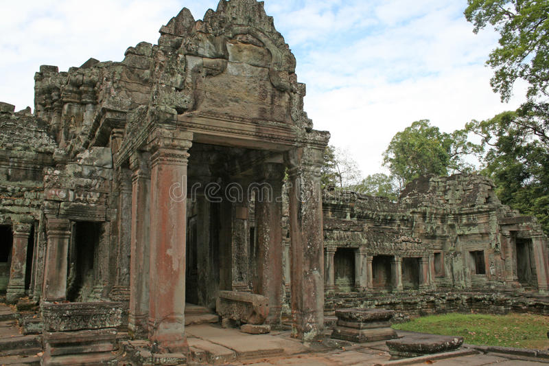 Temple preah khan. The ruins of the ancient preah khan temple at angkor in cambodia stock photography