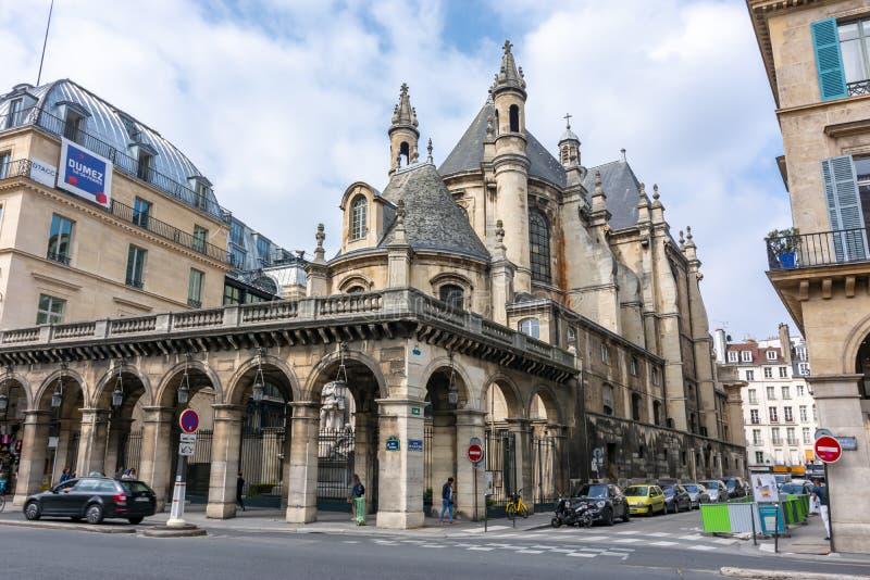Temple Protestant de l'Oratoire du Louvre kyrkan i Paris, Frankrike fotografering för bildbyråer