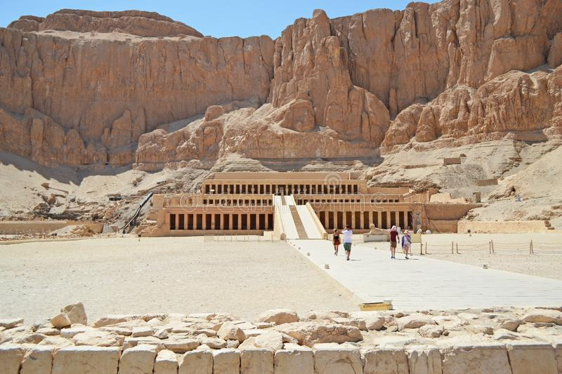 Temple of Queen Hatshepsut in Luxor near the Valley of the Kings. royalty free stock image