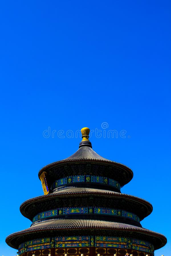 Temple of Reaping Prayer in the Temple of Heaven. Beijing, CHINA stock photo