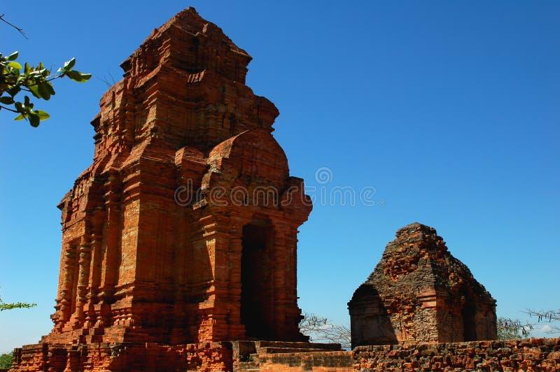 Temple relics in Vietnam stock images