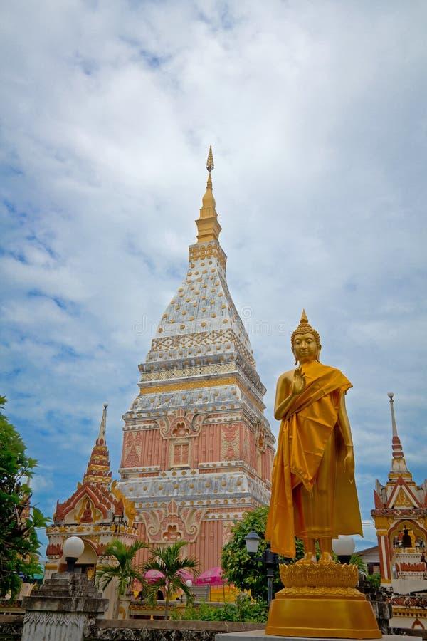 Temple in Renunakhon Nakhonphanom Thailand. Wat Phra That Renu, Temple in Renunakhon Nakhonphanom Thailand royalty free stock photo
