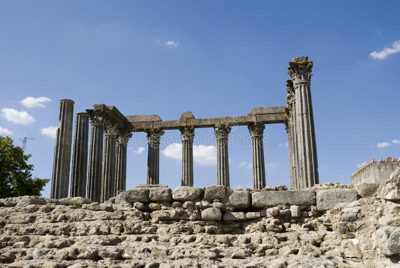 Temple romain, à Evora - au Portugal photos stock
