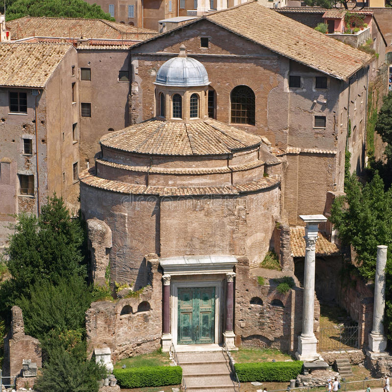 The Temple of Romulus royalty free stock photo