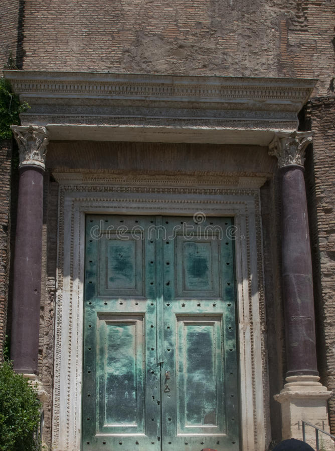 Temple of Romulus in the Roman Forum, Rome, royalty free stock image