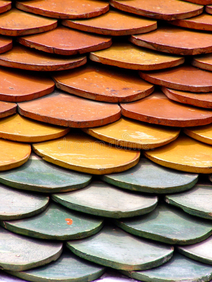 Download Temple roof stock image. Image of pattern, orange, yellow - 100567