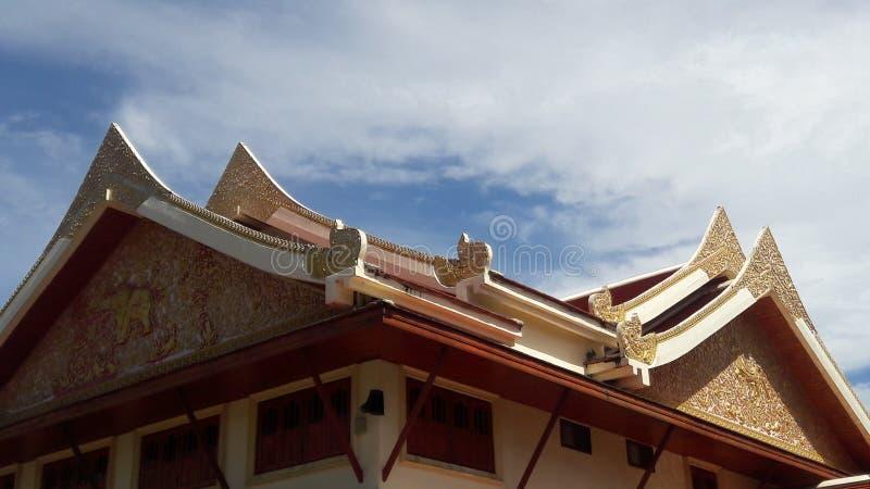 Temple roof in Thailand WatPradhatchohar stock photography