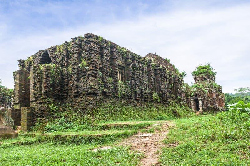 Temple ruiné du Champa antique images libres de droits