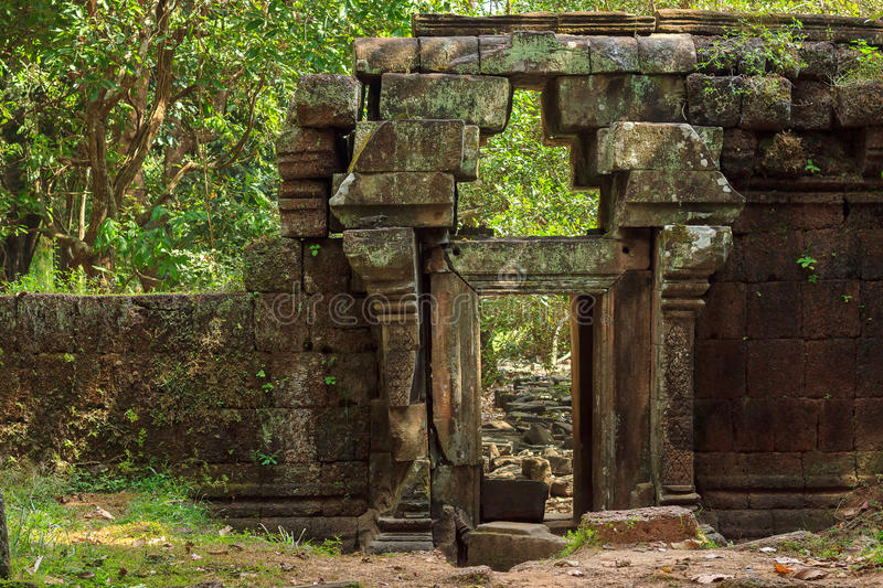 Temple ruins. Amazing view of temple ruins in Angkor, Siem Reap stock image