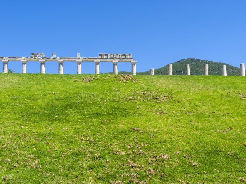 Temple Ruins at Ancient Messini, Messinia, Peloponnese, Greece. Temple Ruins at Ancient Messini, Messinia at Peloponnese, Greece royalty free stock photography