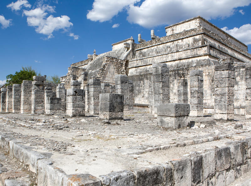 Temple Ruins In Chichen Itza. Royalty Free Stock Photos