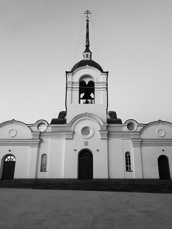 Temple russe à Novosibirsk photographie stock libre de droits
