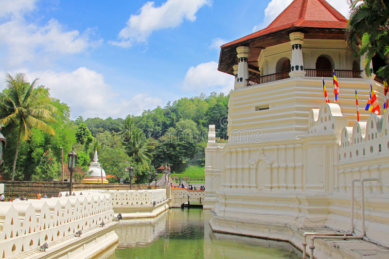Temple of the Sacred Tooth Relic, Kandy, Sri Lanka. Temple of the Sacred Tooth Relic in Kandy Sri Lanka royalty free stock image