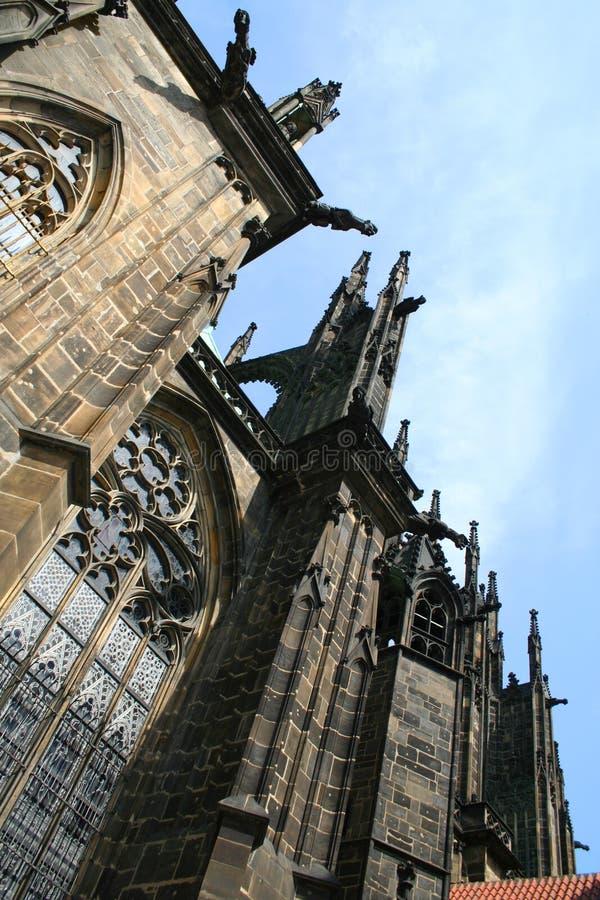 Temple of the saint Vita (St Vitus's Cathedral ). Prague , Czech (Katedrala svateho Vita royalty free stock images