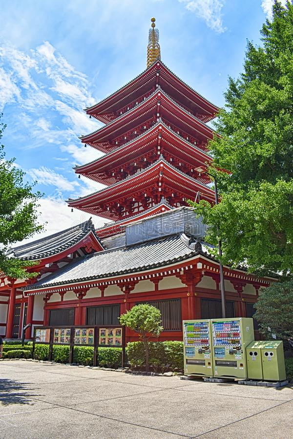 Temple Sakura de Kiyomizu-dera à Kyoto, Japon image libre de droits