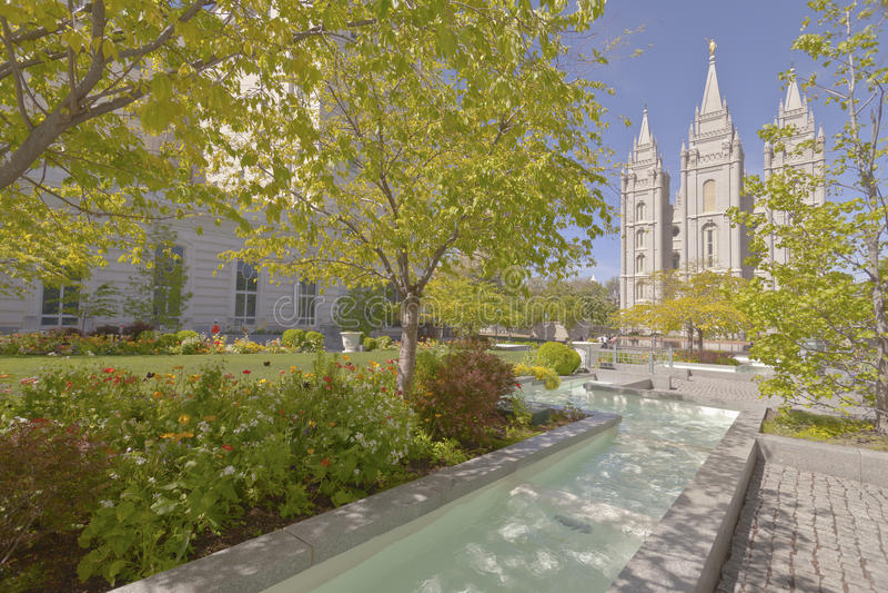 Temple Salt Lake City carré Utah image stock
