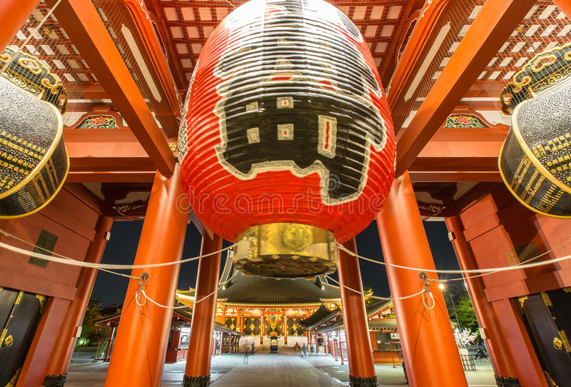 Temple Senso-ji in Asakusa, Tokyo, Japan royalty free stock photos