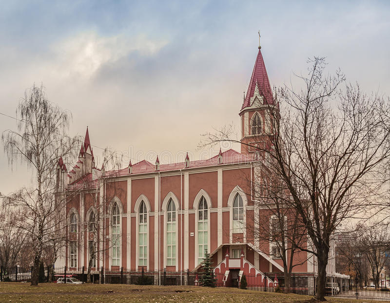 Temple Seventh-day Adventist community in Kiev. In spring royalty free stock image