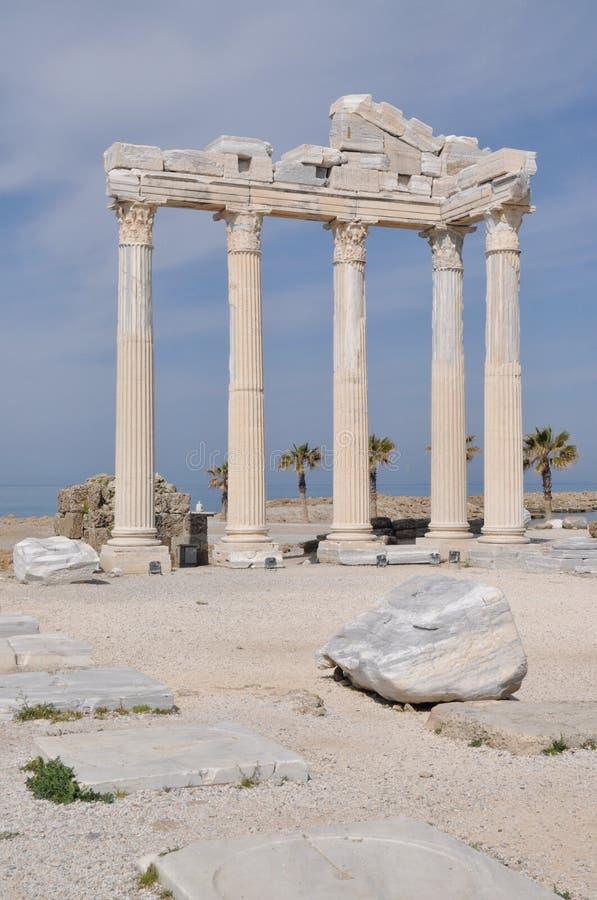 Download Temple in Side stock photo. Image of apollo, lycia, turkey - 25292980