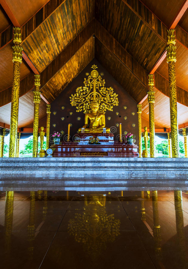 Temple Sirindhorn Wararam Phuproud,artistic, Thailand ,public pl. Temple Sirindhorn Wararam Phuproud Ubon Ratchathani, Thailand is a public place where people stock photography