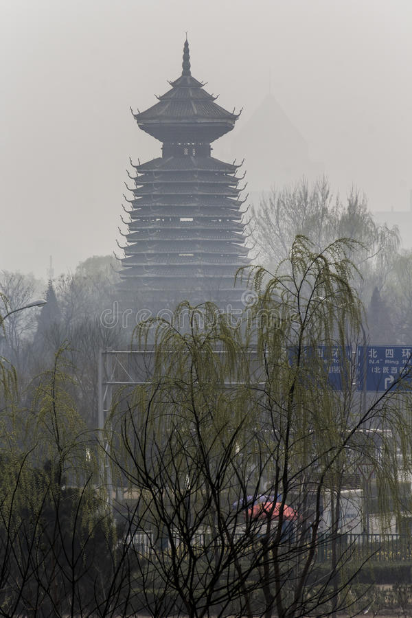 Download Temple in the smog stock image. Image of lama, china - 53947225