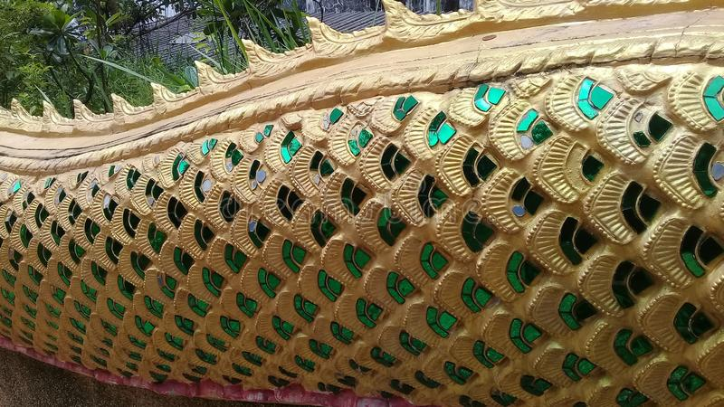 Temple snake thailand royalty free stock images