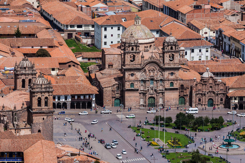 Temple of the Society of Jesus Church Cusco Peru royalty free stock photo