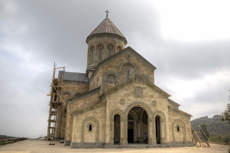 Temple of St. Nino. Monastery of Bodbe. Kakheti. Georgia stock image