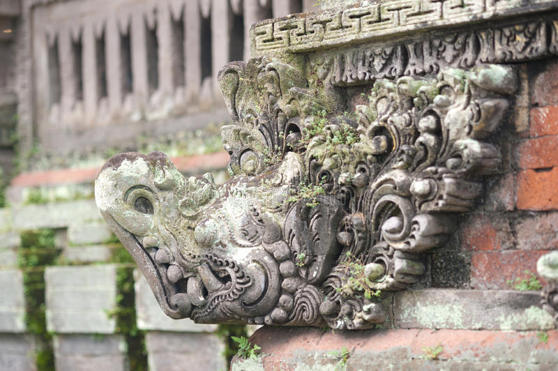 Temple Statue Carving - Bali Royalty Free Stock Photos