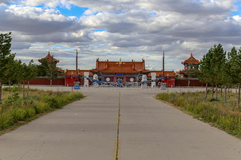 The Temple is such an interesting place and the buildings were very beautiful. Inner Mongolia, China stock photos