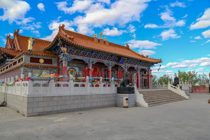 The Temple is such an interesting place and the buildings were very beautiful. Inner Mongolia, China royalty free stock image