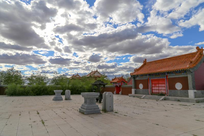 The Temple is such an interesting place and the buildings were very beautiful. Inner Mongolia, China royalty free stock images