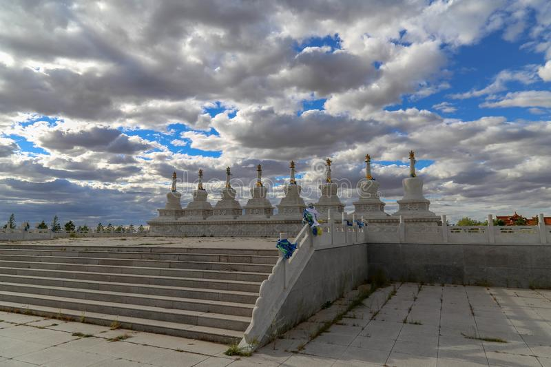 The Temple is such an interesting place and the buildings were very beautiful. Inner Mongolia, China stock images