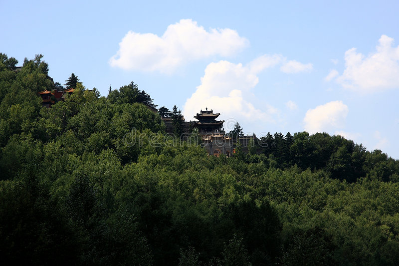 Download Temple Surrounded By Pine Tree On Mountain Royalty Free Stock Photo - Image: 6185835