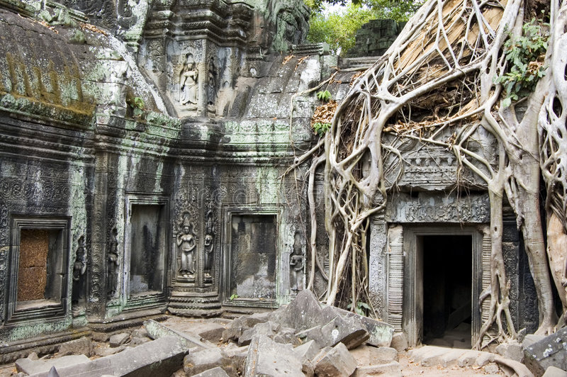 Download Temple Of Ta Phrom stock image. Image of angkor, massive - 5713805