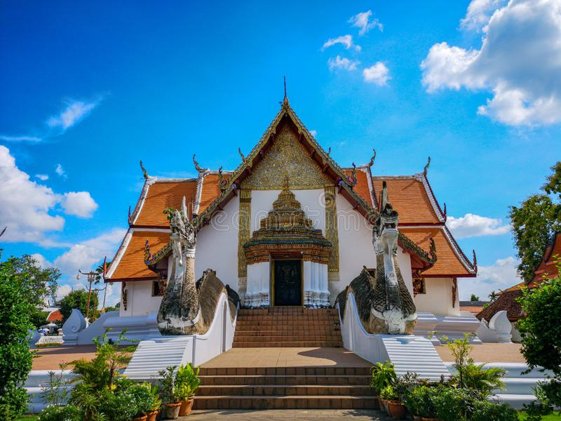 Temple the tales of pu man ya man. Thailand, northern stock photography