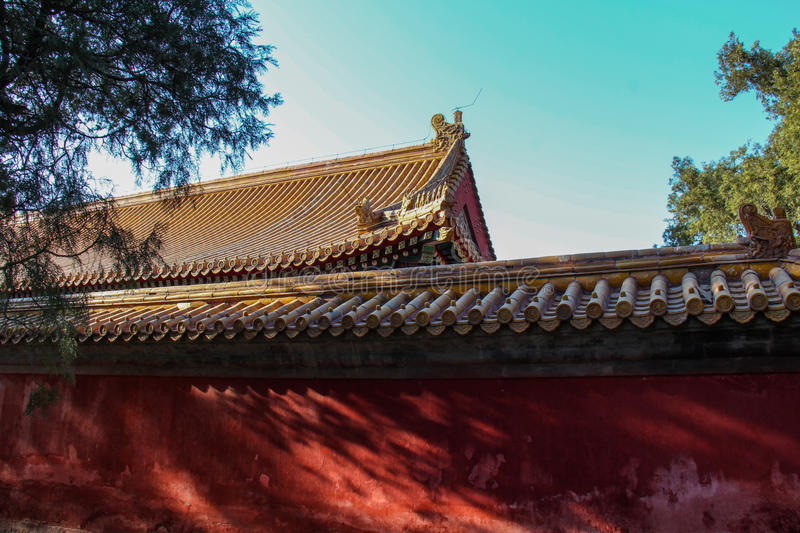 Temple in Temple of Earth, Ditan Park, Beijing royalty free stock photos
