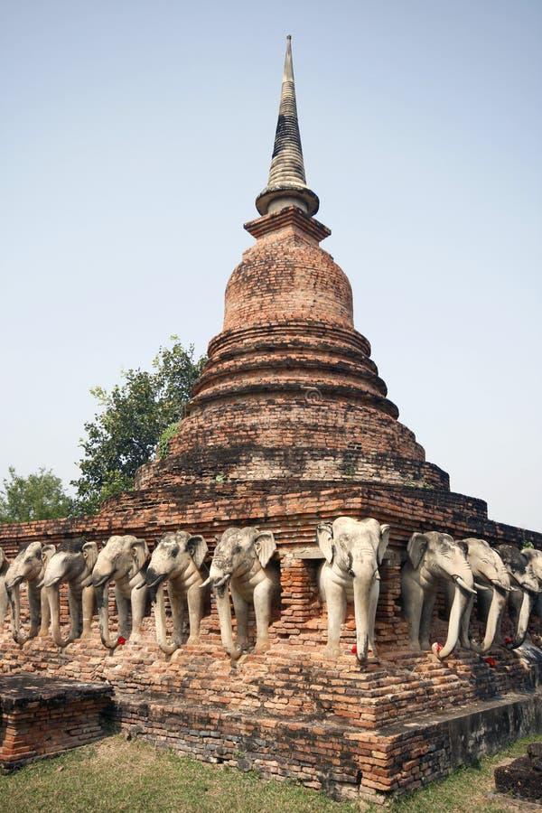 Temple thaï antique image stock