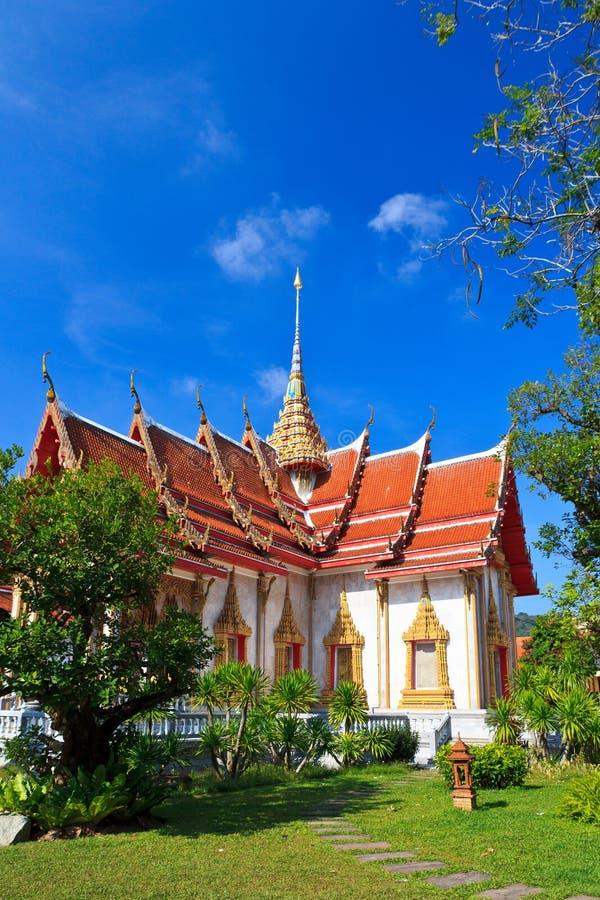 Temple thaï Wat Chalong, Phuket de quatre ailes photo stock