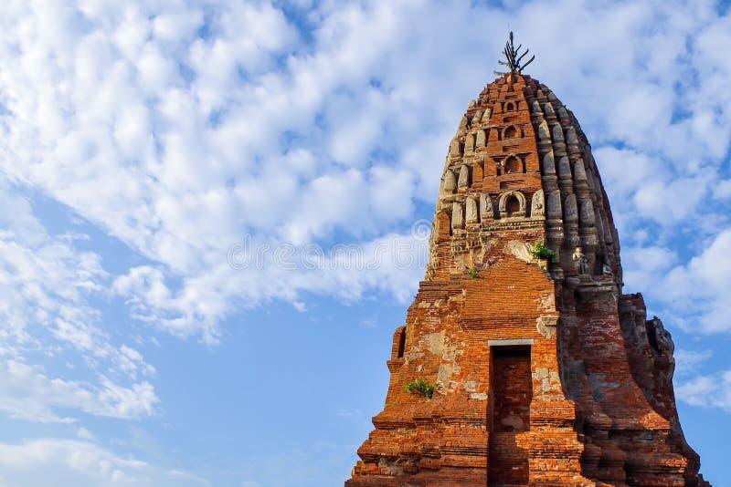 Temple thaïlandais de brique antique image libre de droits